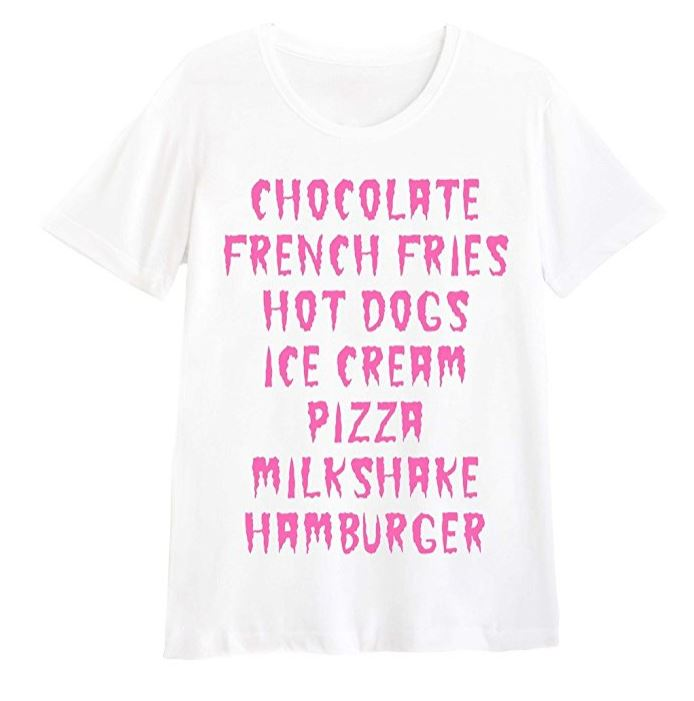 Chocolate French Fries Hot Dogs Pizza Creep T-Shirt