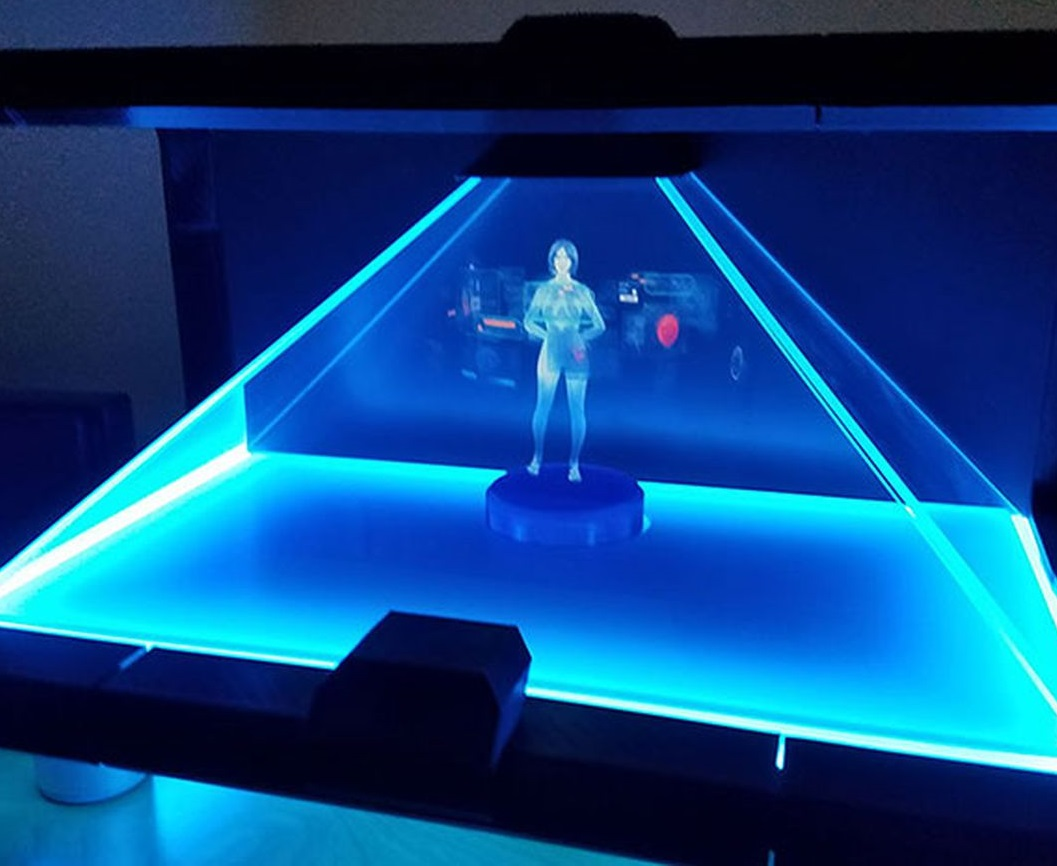 Cortana Hologram working concept