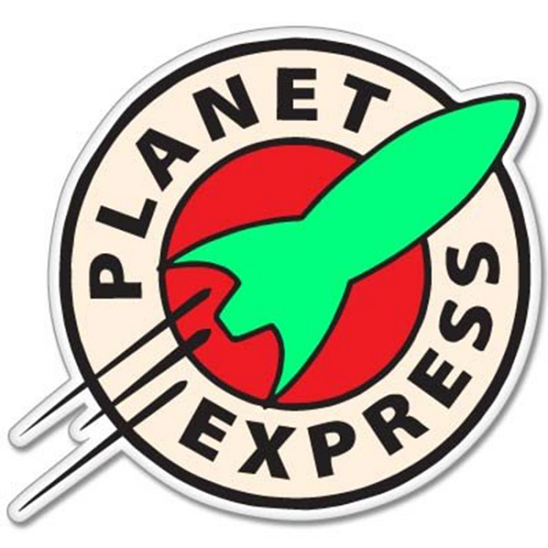 Futurama Planet Express Vinyl Car Sticker Decal