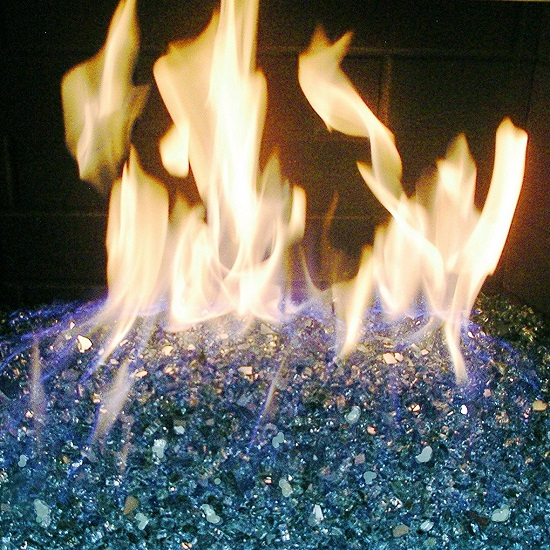 Fire Pit Fireplace Glass