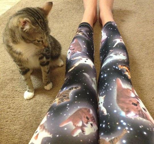 Cute Space Kitten Leggings