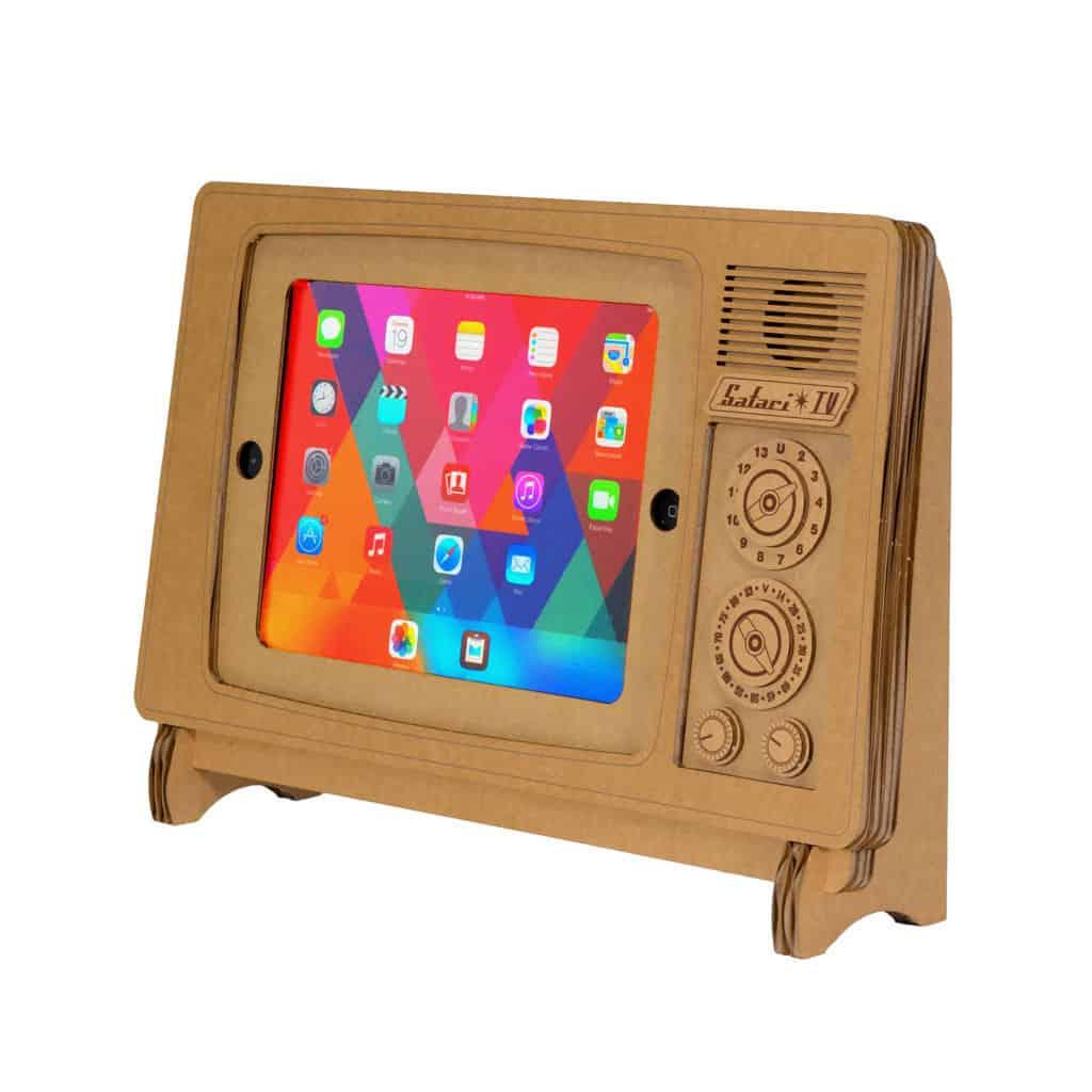 Cardboard Safari TV Cardboard IPad Stand NoveltyStreet