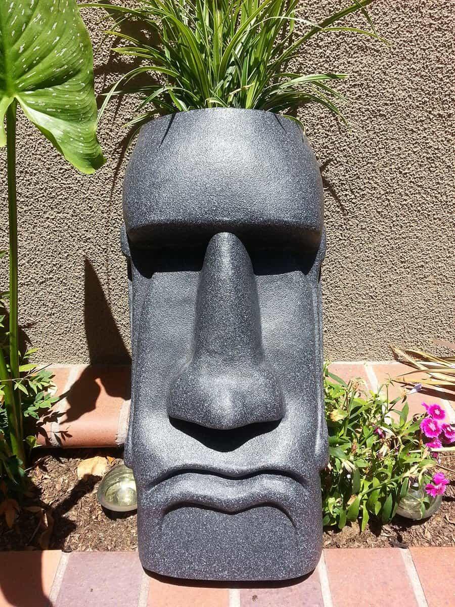 The Tiki Shop Easter Island Planter Noveltystreet