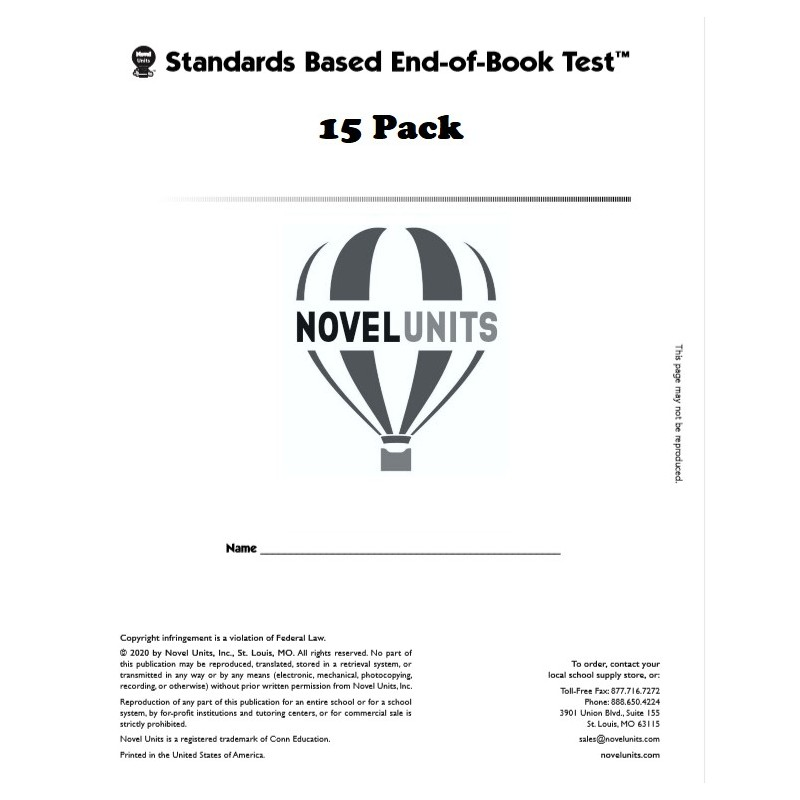 Hatchet End Of Book Test Student Pack