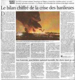 02.11.2005 - Bilan chiffré, Le Monde