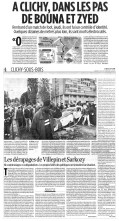 31.10.2005 - A Clichy, dans les pas de Bouna et Zyed, Libération