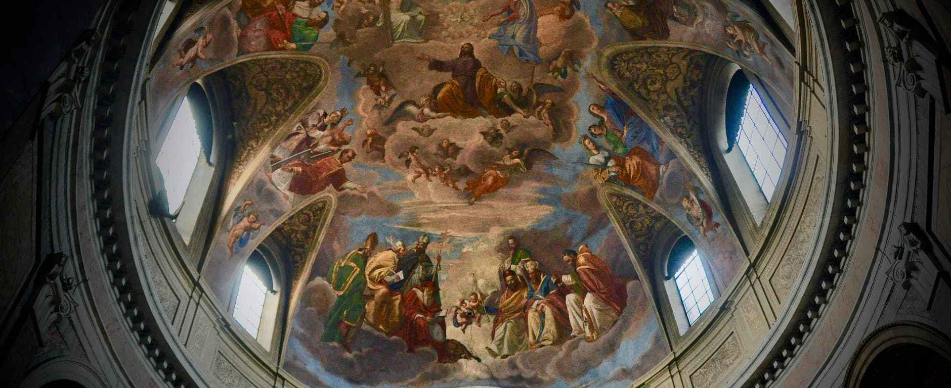painting of jesus christ biography of church ceiling