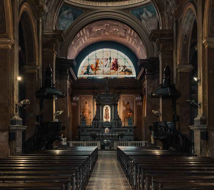 interior design of a church