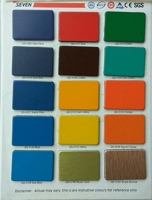 Pilihan Warna Seven Aluminium Composite Panel 1