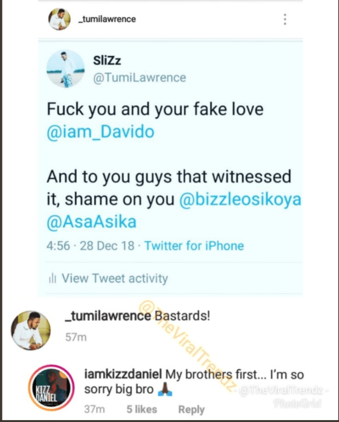 BEEF ALERT: Davido slaps Kizz Daniel's manager at Eko Atlantic City