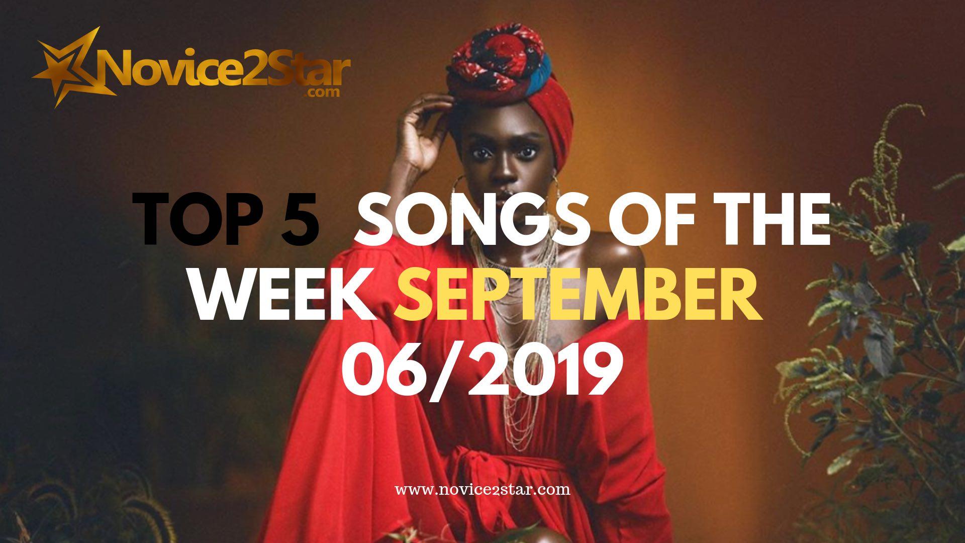 Top 5 Nigerian Songs Of The Week – September 06 2019 Chart