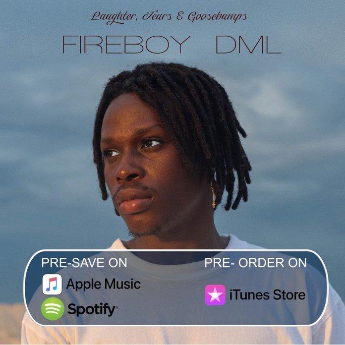 Fireboy DML reveals tracklist of his