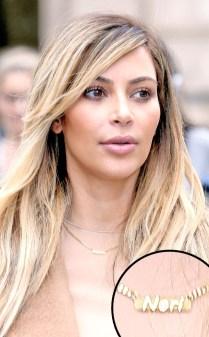 Kim Kardashian escolheu o apelido de sua filha para colocar no colar, Nori
