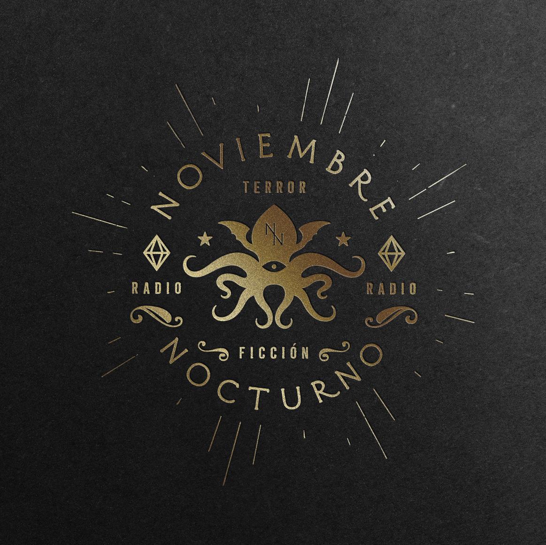 Logo Noviembre Nocturno Logotipo alva aur