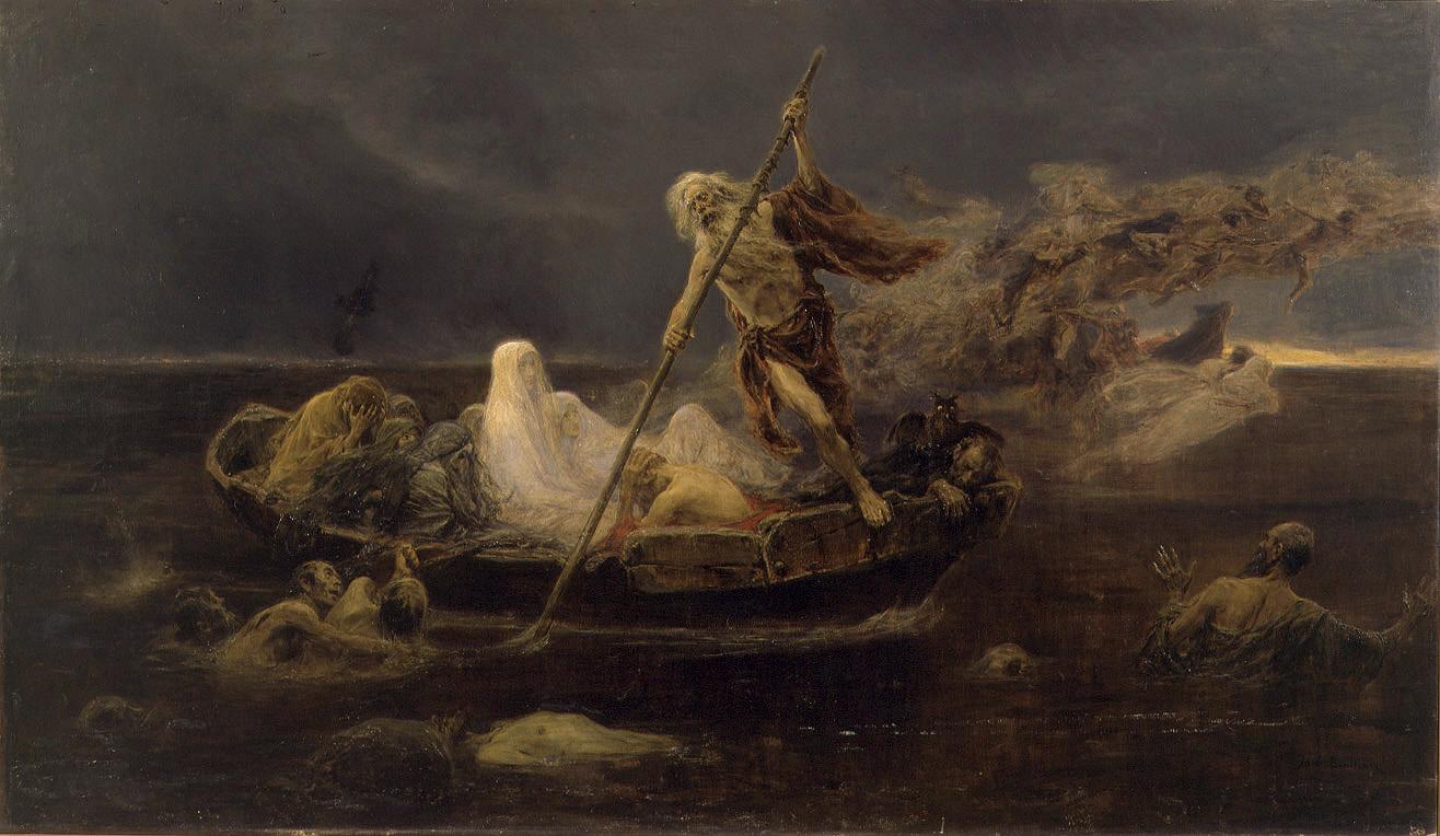 La barca de Caront, _Josep_Benlliure Gil, Museu de Belles Arts de València