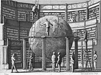 Noviembre Nocturno, La Biblioteca de Babel de Jorge Luis Borges