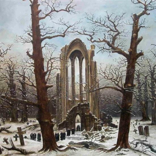 Cloister Cemetery in the Snow 1817-1819 Caspar David Friedrich Noviembre Nocturno