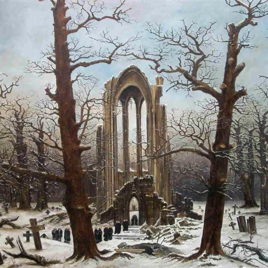 Cloister Cemetery in the Snow 1817-1819 Caspar David Friedrich Noviembre Nocturno