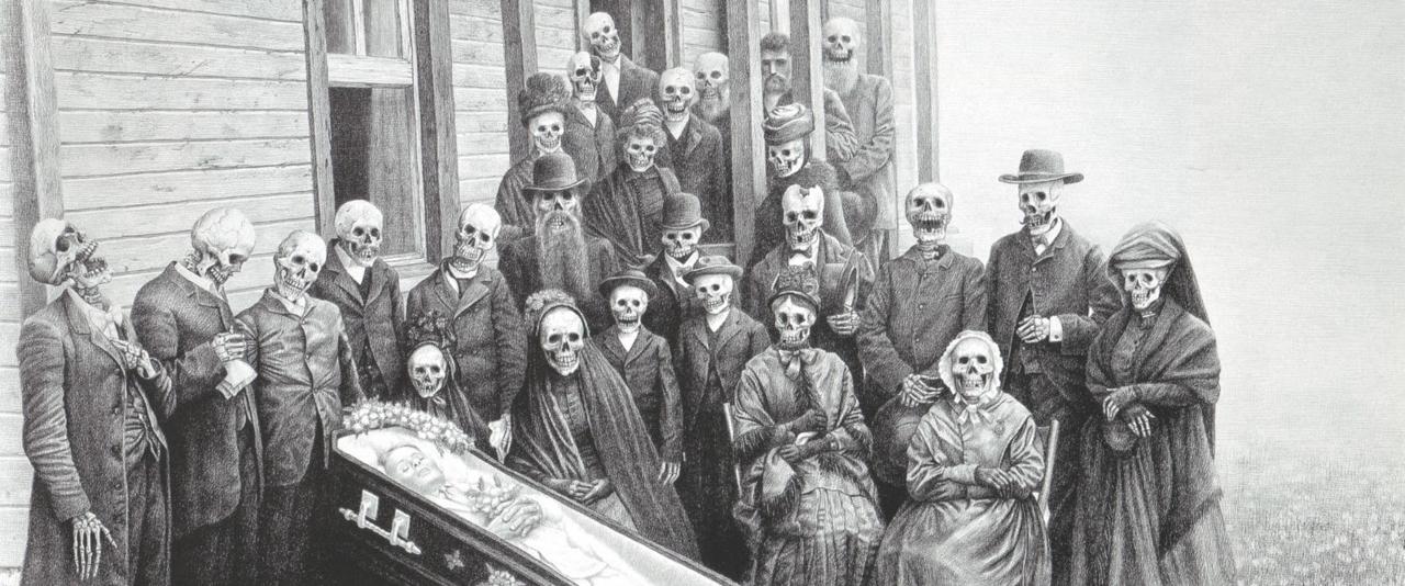 Family Reunion by Laurie Lipton Noviembre Nocturno
