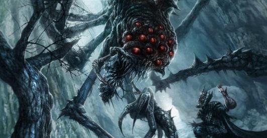 Ungoliant and Melkor by helgecbalzer Noviembre Nocturno