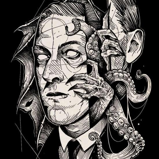 Lovecraft by cuttybage noviembre nocturno