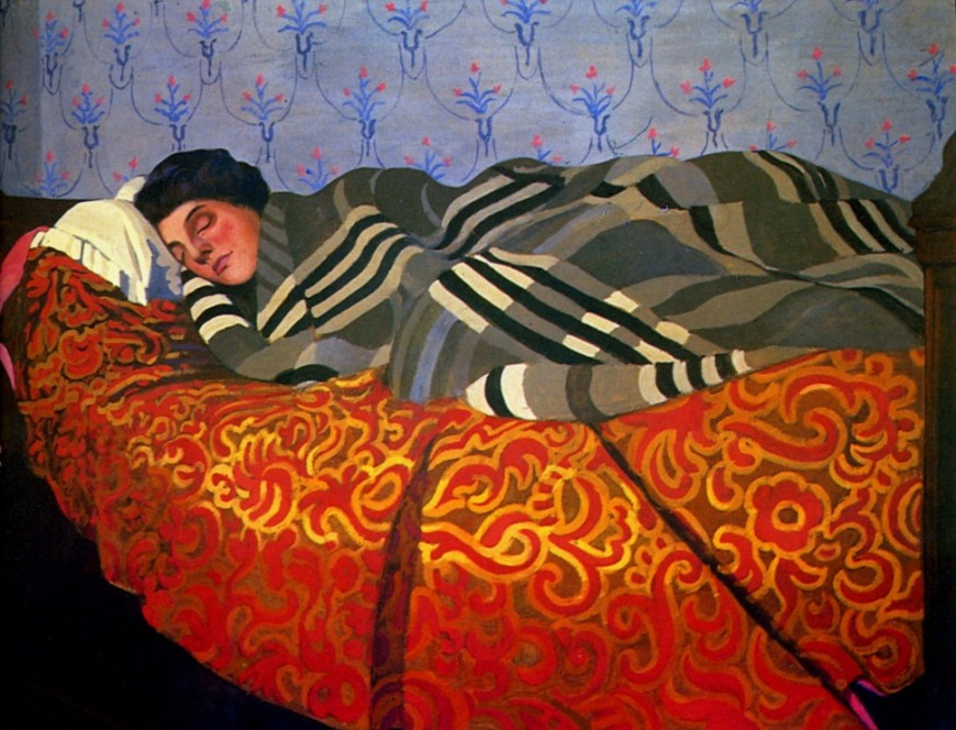 Félix_Vallotton, 1899 - Femme couchée dormant