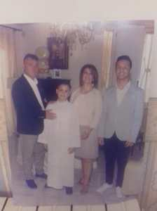 Stella e Carmine con i figli Alfonso e Daniele nel 2017.