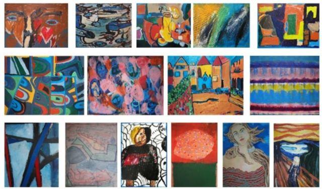 Prodajna izložba likovnih radova učenika