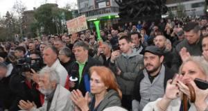 """Protest """"1 od 5 miliona"""" u Nišu; Foto: Pokret mladih - """"Za Niš bez straha"""""""