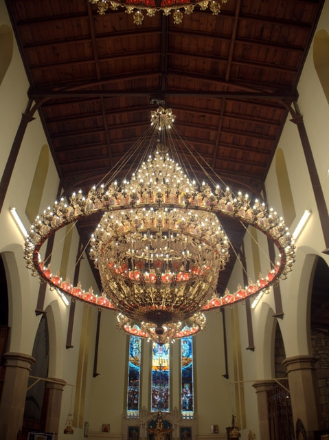 The new chandeliers bring a multicultural - some might suggest even a science-fiction - atmosphere to Holy Trinity.