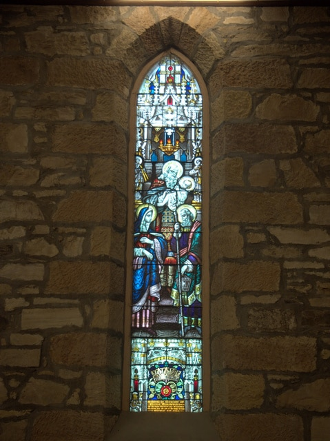 Stained glass window at Holy Trinity, North Hobart