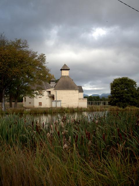 The Text Kiln sits next to a pretty pond