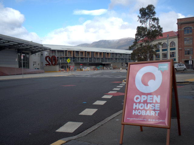 Signs like these appeared all over Hobart for the Open House weekend