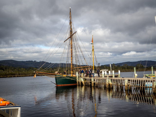 The Yukon offers sailing tours along the calm Huon River and beyond