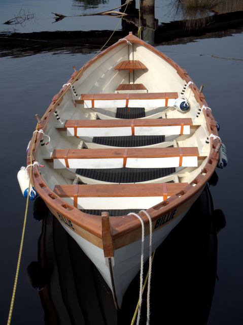 Wooden rowboat at Franklin