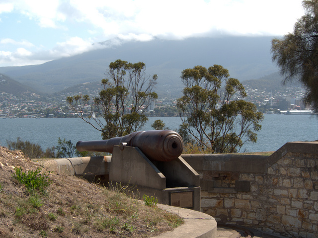 The battery at Kangaroo Bluff was part of a network of fortifications developed to defend Hobart from invasion in the late 19th century