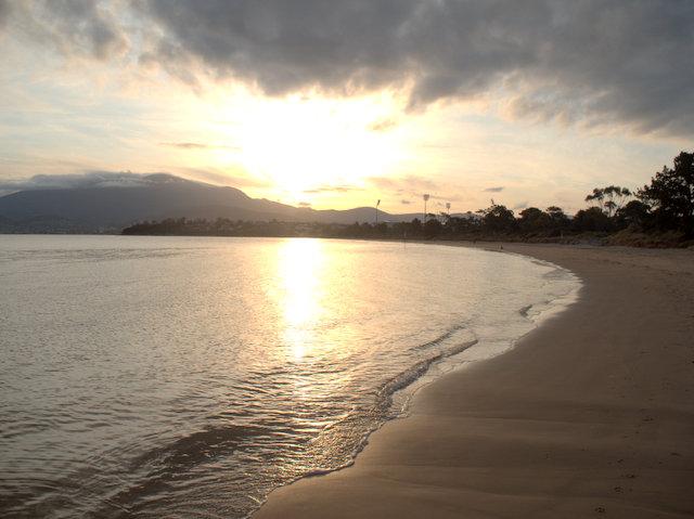 Sunset on Bellerive Beach