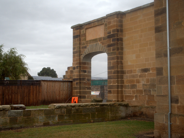 The archway of the former gate at Oatlands Gaol. Public executions were carried out outside this gate until the 1840s