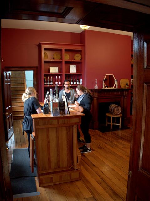 The tasting room at Redlands Estate