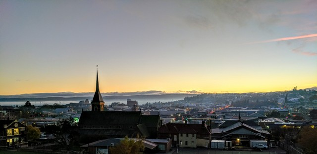 Sunrise over Launceston