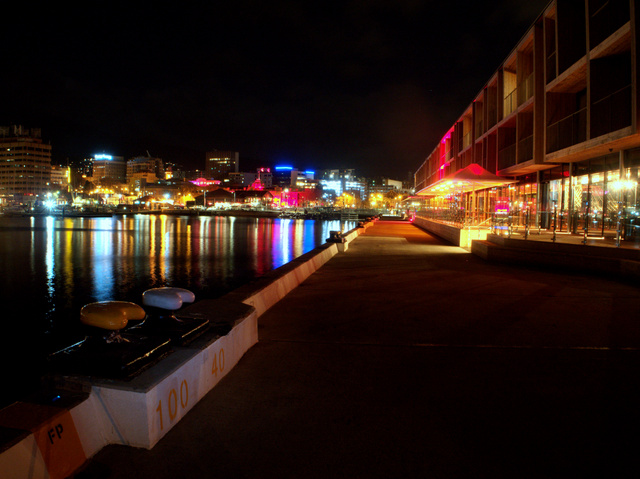 Hobart from in front of the new Macq1 hotel