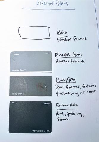 Exterior colour swatches