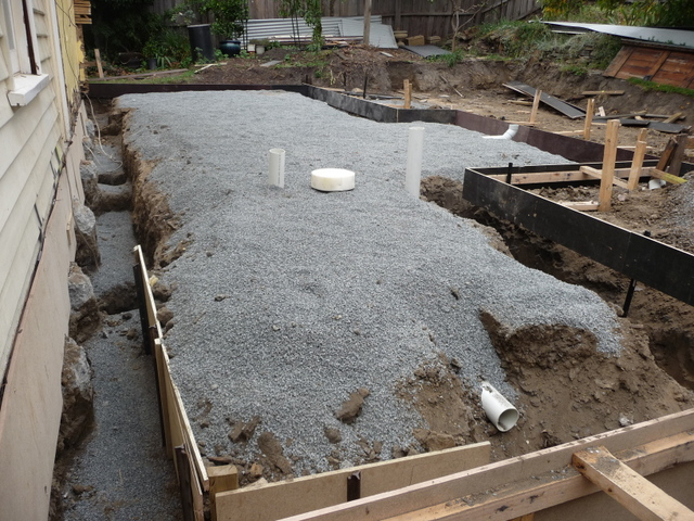 Preparation for pouring the slab
