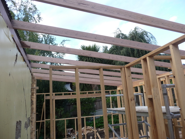 And trusses for the roof
