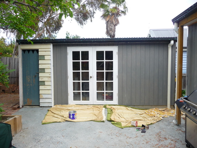 Painting the shed, to start with