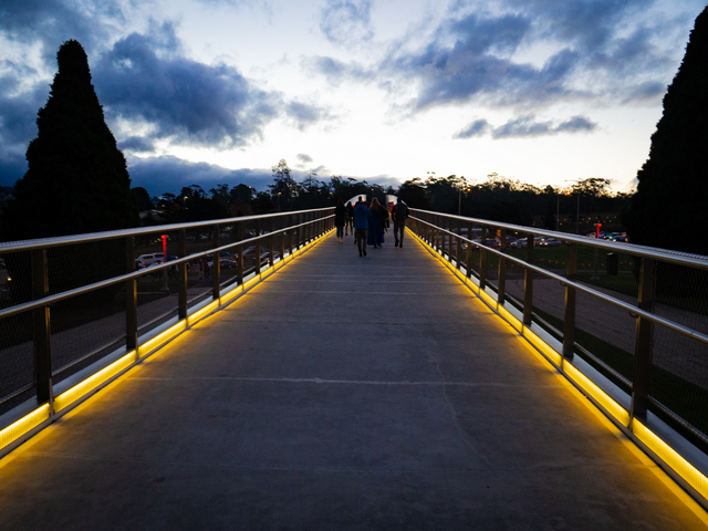 Hobart's new Bridge of Remembrance marks the start of the Dark Path