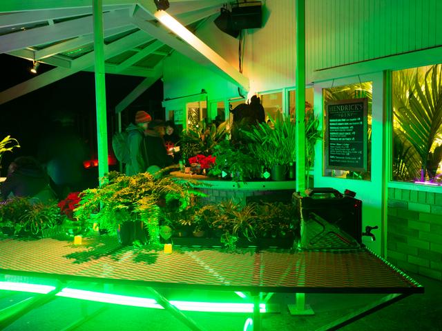 The Roundhouse at the Royal Tasmanian Botanical Gardens set up as a bar during Dark Path