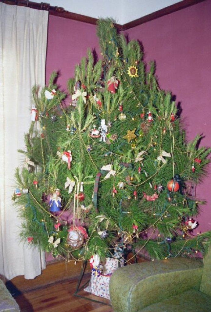 Christmas 1995, in the redecorated lounge room