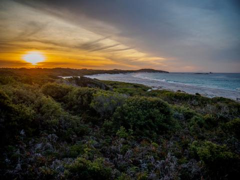 Sunset over krakani lumi, Mount William National Park, Tasmania