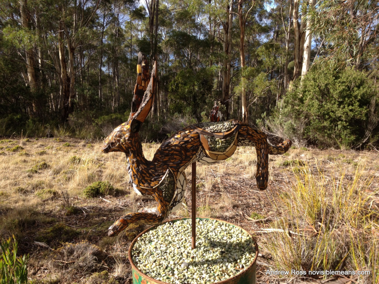 A work exhibited in the Birches Bay Sculpture Trail several years ago